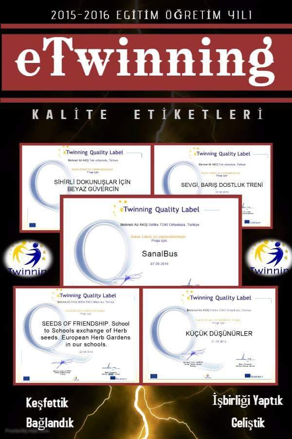 e-Twinning Kalite Ödülü